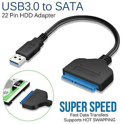 """USB 3.0 to SATA 2.5"""" Adapter Cable Reader for External SSD HDD Hard Disk Drive"""