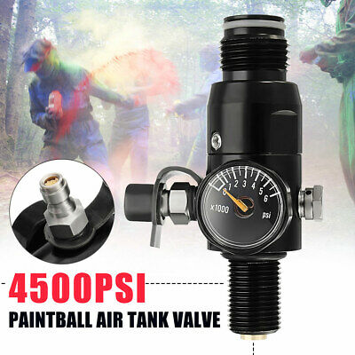 "NE 5/8"" 18UNF Thread Paintball Valve 4500psi HPA Air Tank Regulator 1800psi Outp"