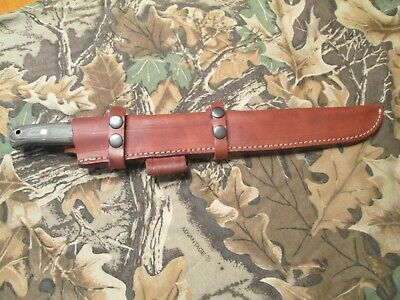 "Custom Ipak Survival USA 12"" Drop Point Blade, Micarta Handle, Full Tang, Sheath"