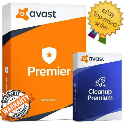 Avast Antivirus Premier 2019 + Cleanup -Instant Delivery - LifeTime Key-Warranty