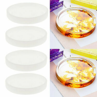 4pcs/set Round Silicone Mold Coaster Resin Casting Jewelry Making Mould Tool Kit