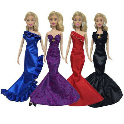 Fashion Ruffle Wedding Party Gown Mermaid Dresses Clothes for 30cm Doll Gift