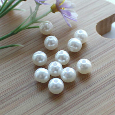 DIY 8 mm Colour Acrylic Round Pearl Spacer Loose Beads Jewelry Making GER