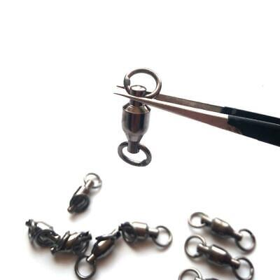 Fishing Barrel Bearing Rolling Swivel Ring Solid Lures Connector. HOT O0P3