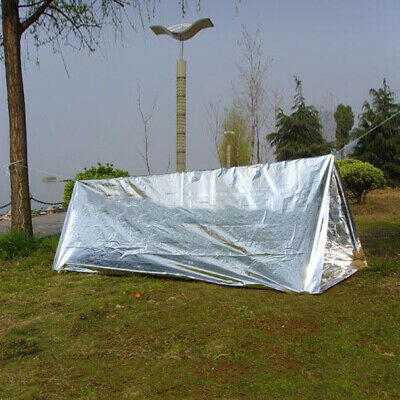 Outdoor Aluminum Film Camping Tent Survival Emergency Shelter Tent Sleep Bag New
