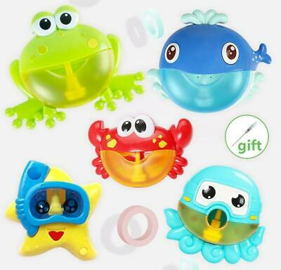 Outdoor Bubble Frog Crabs Baby Bath Toy Bubble Maker Swim Bathtub Soap Machine