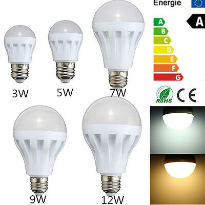 E27 Energy Saving LED 3W 5W 7W 9W 12W Bulbs Light Lamp AC 110/220V DC 12V  !