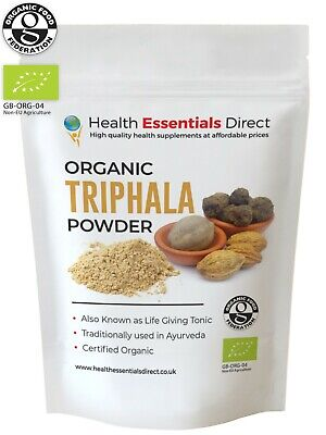 Organic Triphala Powder (Colon Cleanse, Eye Health, Life Tonic) Choose Size: