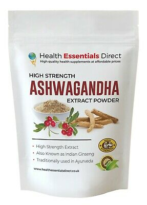 Ashwagandha Extract Powder (Superior Strength 7% Withanolides, 3% Alkaloids!!)