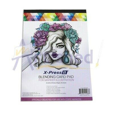 X-Press It Blending Card Pad A4 250gsm 20 Sheets
