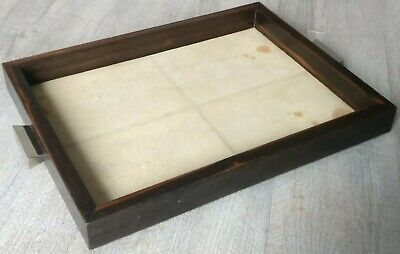 Rare Tray Ebony of Macassar & Ty-Dye Stingray Period Art Deco Work French