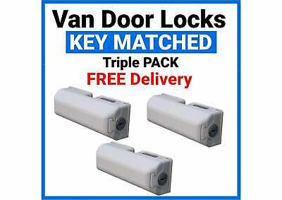 Vauxhall Vivaro Milenco Van Security Door Lock Triple Pack