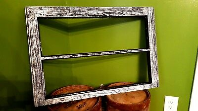 Antique Window Pane Frame Rustic 2 Pane Driftwood Style, One Of A Kind 28X19