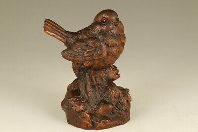 Chinese old boxwood hand carved bird statue figure netsuke