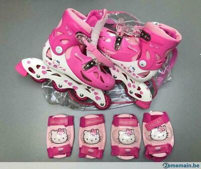 Rollers Hello Kitty avec protections - Pointure 34 - 37 (GW)