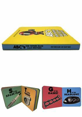 ABC's Children Book Board Learning Car Parts for Future Race Drivers