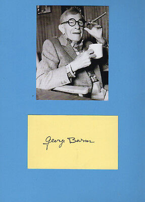 George Burns (Comedian, Actor, Singer, and Writer) Signed Card With Photograph