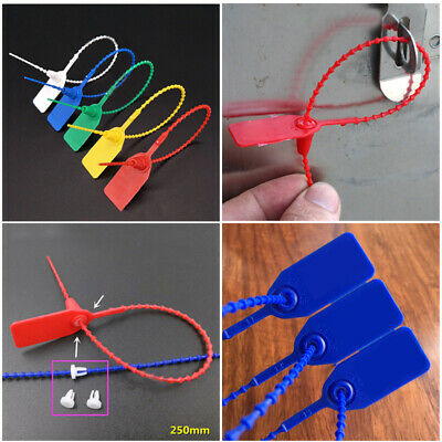 Mark Tags Pack Set Plastic Security Numbered Ties Secure Anti-Tamper Suitable