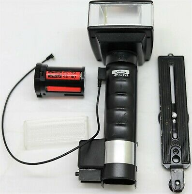Metz 45 CT-1 Flash gun + Bracket Battery pack Universal sync cable – no charger