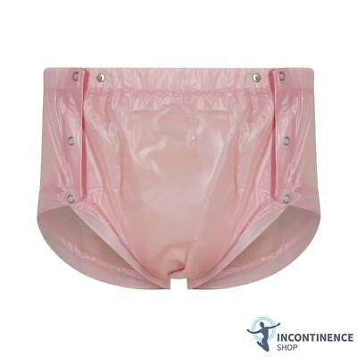Suprima PVC Snap-On Plastic Pants - Pink - Small