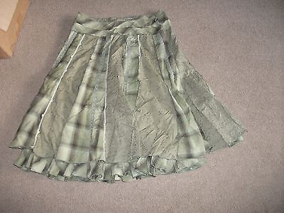 Ladies Skirt-Size 10-By Next-In Exc. Cond.-Appears Unworn-Greens-Knee Length