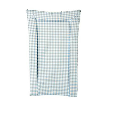 Brand new Kit for kids changing mat in blue gingham in large size 71cm x 50