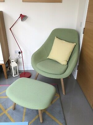 Hay About A Lounge Chair Ottoman Oak Green Steelcut Trio Vgc Aao 03.-