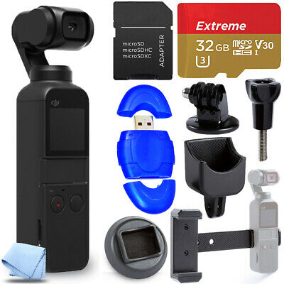 DJI Osmo Pocket Gimbal Camera with 4K Video 32GB Sandisk 10 Piece Extreme Bundle