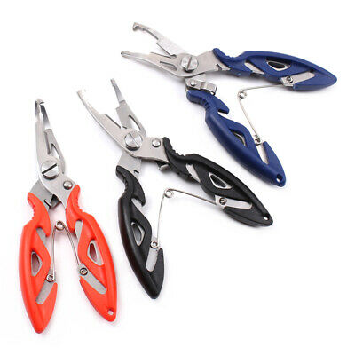 Stainless Steel Fishing Pliers Scissors Line Remove Top Tackle Tool Hook J5J4
