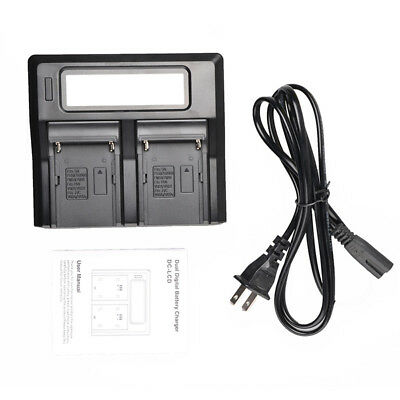 Best LCD Dual Charger  For Sony NP-F970 F960 F950 F770 F550 Charging