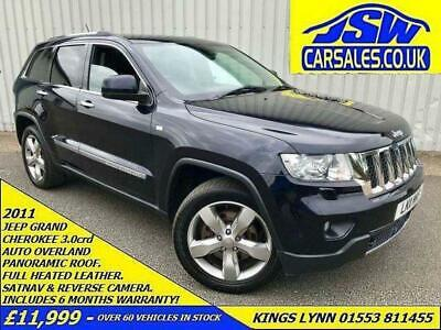 2011 Jeep Grand Cherokee 3.0CRD AUTO Overland - Leather. SATNAV. Pano Roof.