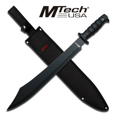 "20"" FULL TANG Tactical Survival Fixed Blade MACHETE w/sheath Sword Knife Mtech i"