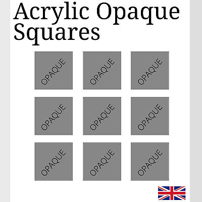 Opaque black Square Acrylic Various Sizes small Arts & Crafts K&M