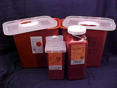 4 New Sharps Needle Disposal Biohazard Container Healthcare Medical 3 Sizes