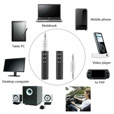 Handsfree Wireless Car Bluetooth Receiver 3.5mm AUX Music Stereo Audio Adapter P