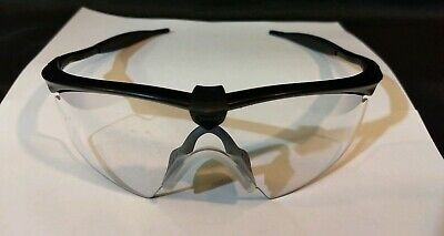 101ac50a2344 Oakley M Frame sunglasses Black Clear AUTHENTIC 11-161 Safety ANSI Z87 Rated