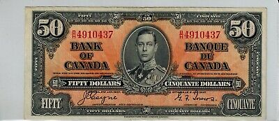 Canada 1937 $50 Bank Note -EF-40- Coyne/Towers -BN-0001