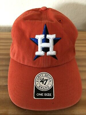 outlet store 859c0 4ca95 Houston Astros  47 Brand Clean Up Hat Cap Orange Adjustable