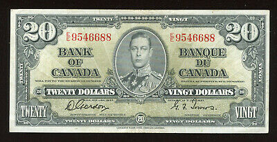 1937 Bank of Canada $20 Banknote - Face Value Sale