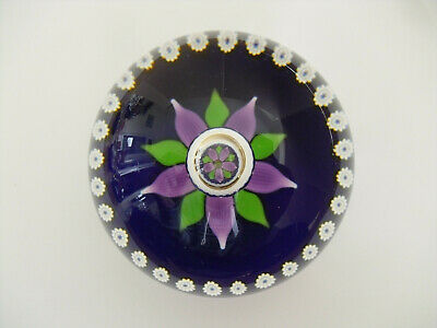 "Ltd Ed Caithness William Manson ""Floral Reflections"" Paperweight(103/500) 2 3/4"""