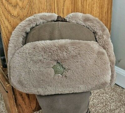 Repro Soviet WW2 M1940 Ushanka - Russian Red Army RKKA WWII uniform hat Size 59