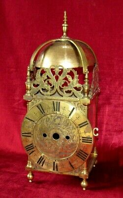 Quality Constructed Antique English Lantern Brass Clock Case