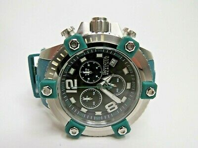 Invicta Reserve Octane 48mm Watch Teal Green Chronograph Swiss Made 11171