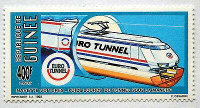 Guinea1992 Stamp Showing Eurotunnel Train. Railway Thematic Stamps, UMM