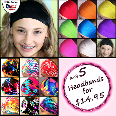 Wide Headbands, Discounts for multiples! Great for Adults and Youth