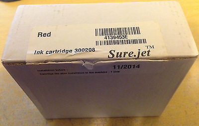 NEOPOST franking machine cartridge RED 300208 STILL SEALED FREE POSTAGE