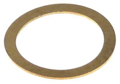Washer outside 17mm inside 13,3mm Brass Material Thickness 0,5mm
