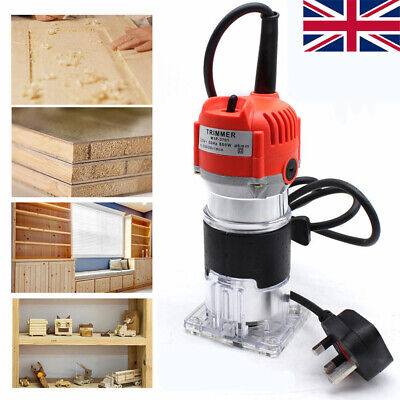 Electric Hand Trimmer Wood Router Laminate Wood Carving 6mm Machine 800W 220V UK