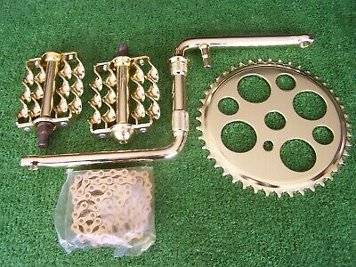 """36 T SPROCKET BB SET CHAIN 5 ITEMS  TWISTED CP  4 1//2/"""" CRANK TRIPLE PEDALS"""