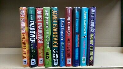 Janet Evanovich: job lot box collection of 10 adult fiction books